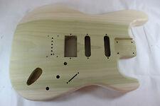 Unfinished Hardtail Poplar HSS body Fits Fender Strat Stratocaster neck P226