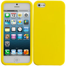 For iPhone 5S 5G 5 Hard Snap-On Matte Rubberized Case Cover Yellow