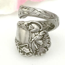 Sterling POPPY Silver Spoon Ring Floral Silverware Jewelry,Custom Size 7-12
