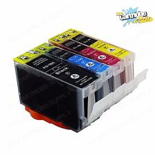 4 Pack Ink For Canon PGI5 CLI8 W/ Chip Pixma iP3300  iP3500  MP510 MP520 MX700