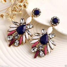 Pendientes florales bohemios aleacion Alloy Zircon Floral Vintage Earrings