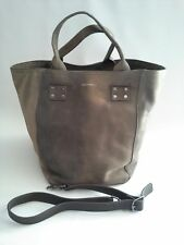 Lucky Brand Koi Slouchy Tote Distressed Textured Grey BOHO Rare