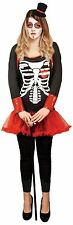 Day of the Dead Women's Halloween Circus Fancy Dress Costume