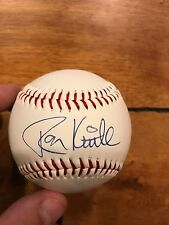 RON KITTLE Schaumburg Flyers Signed Commemorative Baseball PLUS UNKNOWN PLAYER