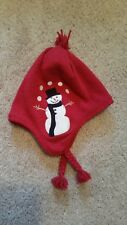 NEW Gymboree Snow Chillin red Snowman Trapper Knitted Hat 2T- 3T