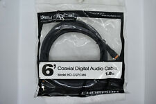 6' GOLD COAXIAL DIGITAL, SUBWOOFER   AUDIO CABLE   DESIGNED IN USA, STOCK USA