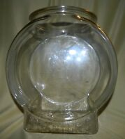 "Original PLANTERS PEANUTS Fishbowl Glass Store Counter Peanut Jar 10 x 7 x 11"" B"