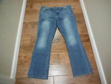 "WASSIMO DENIM MID-RISE BLUE JEANS W/FRONT & BACK POCKETS - SIZE 18 X 30"" INSEAM"