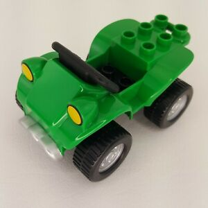 Duplo Lego Green Four Wheel 5654 Farm Bike Replacement Piece Part 2005 ATV