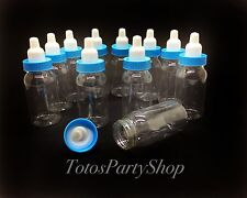 36 Fillable Tall Bottles For Baby Shower Favors Blue Party Decorations Boy