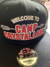 Friday The 13th Welcome To Camp Crystal Lake Black Snapback Hat