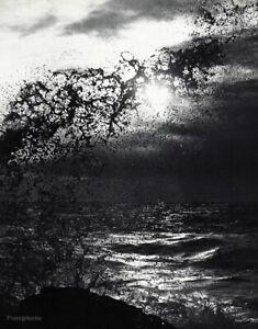 1960s Vintage LUCIEN CLERGUE Ocean Wave Sunset Seascape Splash Photo Art 12x16