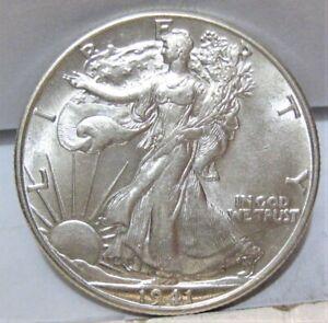 1941-D Walking Liberty Half Dollar - High (BU) Grade -  Really Beautiful Luster