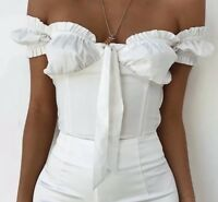 Off The Shoulder Corset Style Blouse