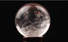 Natural Clear Quartz Crystal Rainbow Sphere Ball Healing Gemstone 20-25mm +Stand