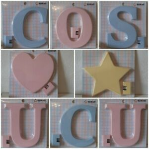 """KidKraft 8 Inch Wooden Letter and Shapes - Hangs or Stands UNUSED PRE-OWNED 8"""""""