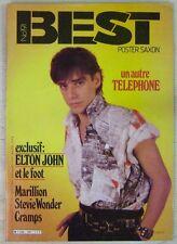 Revue BEST Juin 1984 Téléphone Elton John Marillion Cramps