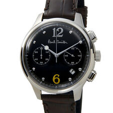 New Paul Smith City Classic Chronograph SS/Leather Men's Watch BX2-019-52, MR