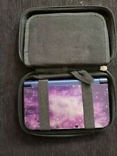 NEW Nintendo 3DS XL Handheld Gaming System - Galaxy With Blue Case and 8 games