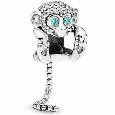 Pandora Genuine Sparkling Monkey Charm #798054CZ Sterling Silver +Gift Pouch