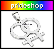 Chain Necklace Lesbian Pride #380 Female Stainless Steel Pendant With Ball