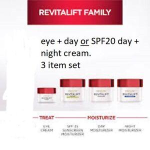 L'OREAL Revitalift Anti-Wrinkle + Firming DAY Cream AND NIGHT Cream + EYE CREAM