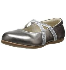 SEE KAI RUN Maelee Leather Slip-On Toddler Flats in Pewter  Sz 8 (B,M) $62