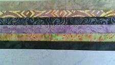 Batik Fat Eighths No:2 - 25 x 55 cm *** 7 Per Pack *** Free AU Post - 100%Cotton