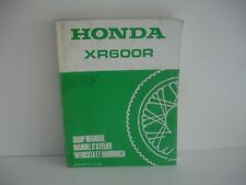manuel Atelier Honda xr600r xr 600 r 600xrr 1989/89  en French anglais allemand
