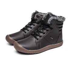 Men's Winter Warm High Top Snow Boots Fur Lined Outdoor Walking Hiking Shoes