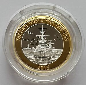 2015 £2 Silver Proof Coin ' The Royal Navy ' HMS Belfast Two Pound Coin