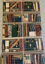 "Waverly Wallpaper 8 Double Rolls ""Books Library Shelf"" Design NICE # 569831"