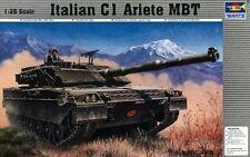 Italian Army MBT C1 Ariete Tank Panzer Plastic Kit 1:35 Model 0332 TRUMPETER