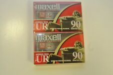 Sealed Package of 2 Maxell Audio Cassettes. Normal BiasUR 90 minutes/135m