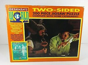 Beakmans World 2-Sided Jigsaw Puzzle 200 Piece Home Experiment Vintage 1993 New