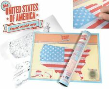 SCRATCH OFF MAP Personalized U.S. Map Poster Luckies Personal Travel Log Gift