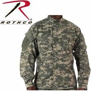 ACU DIGITAL CAMO ARMY MENS COMBAT UNIFORM SHIRT JACKET ROTHCO 5765 Rip-Stop