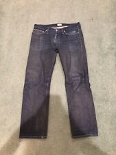 Naked And Famous Indigo Selvedge Weird Guy Button Fly Jeans Size 34W 31L Canada