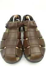 b8f0d4d61f3de Mens Teva Fisherman Sandals Brown Waterproof Leather Sz 12 Style 6556