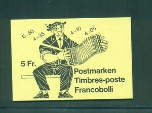 Switzerland 1984 5 Fr Luxembourg Flower stamp advertisement on back Booklet