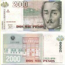 Colombie - Colombia billet neuf de 2000 pesos oro pick 451 UNC
