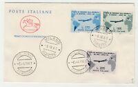 STORIA POSTALE - 1961 REPUBBLICA GRONCHI 3 VALORI MILANO 6/4/61 Z/9732