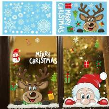 Merry Christmas Wreath Wall Window Stickers Decals XMAS Home Shop Decor DIY