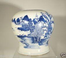 Antique Chinese Underglaze Blue and White Ginger Jar Kangxi Style Baluster