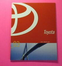 2003 TOYOTA SUV - TRUCK - CAR  SHOWROOM SALES BROCHURE....46 PAGES