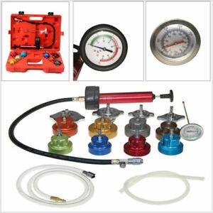 Car Cooling System Radiator Water Pressure Tester Tank leak Detector w/ Adapters