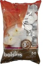 Bolsius Tealight Candles White - Pack of 50 - 8 Hour Burn Time