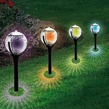 Solar Powered Glass Ball Outdoor Garden Color Changing Lawn Landscape LED Light
