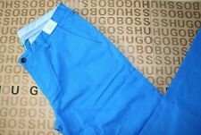 NEW HUGO BOSS MENS BLUE DESIGNE GOLF SPORTS SLIM FIT STRETCH TROUSERS PANTS 34 R
