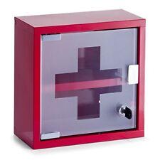 Zeller 18467 Armoire À pharmacie en Métal 25 x 12 cm Rouge